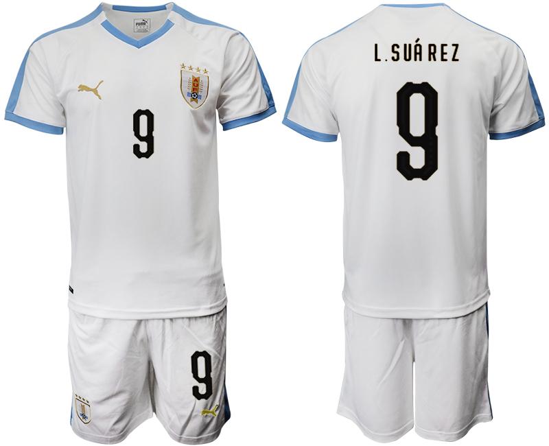 2019-20 Uruguay 9 L.SUAREZ Away Soccer Jersey