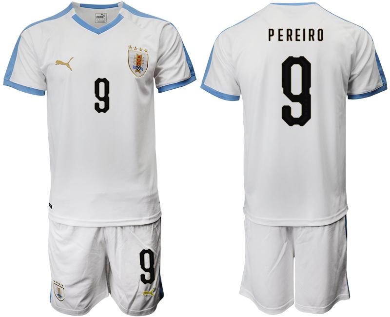 2019-20 Uruguay 9 P E REIRO Away Soccer Jersey