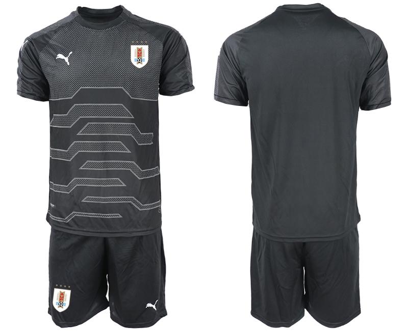 2019-20 Uruguay Black Goalkeeper Soccer Jersey