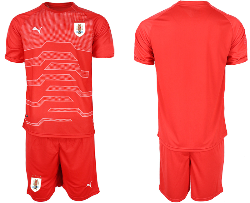 2019-20 Uruguay Red Goalkeeper Soccer Jersey