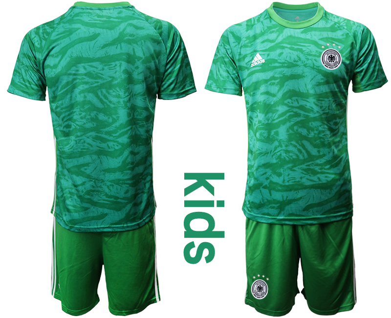 2019-20 Germany Green Goalkeeper Youth Soccer Jersey