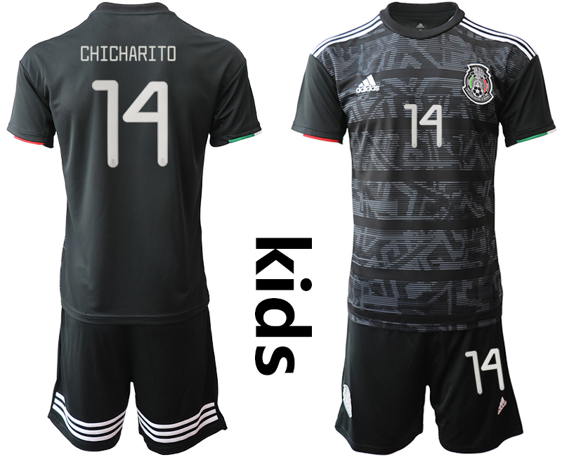 2019-20 Mexico 14 CHICHARITO Home Youth Soccer Jersey