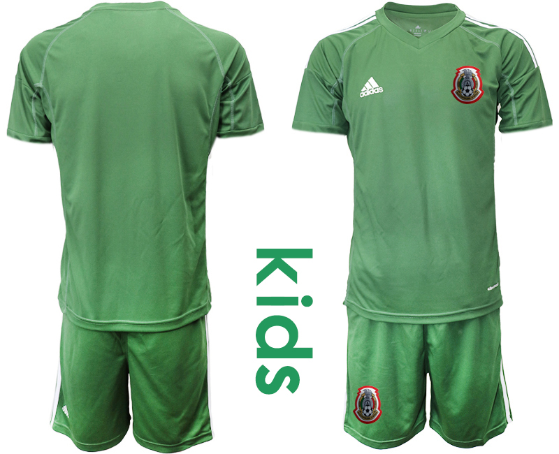 2019-20 Mexico Arm Green Youth Goalkeeper Soccer Jersey