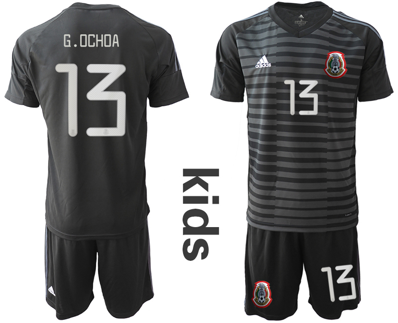 2019-20 Mexico Black 13 G.OCHOA Youth Goalkeeper Soccer Jerseys