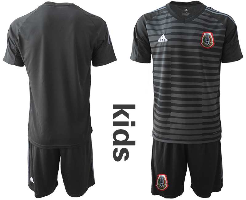2019-20 Mexico Black Youth Goalkeeper Soccer Jerseys
