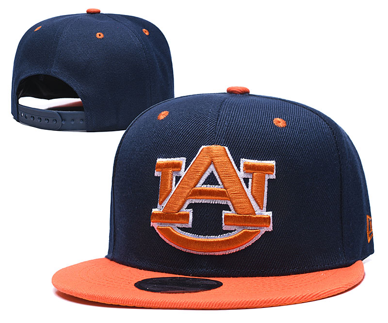 Auburn Tigers Team Logo Navy Orange Yellow Adjustable Hat GS