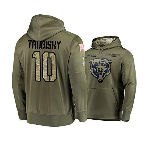 Nike Bears 10 Mitchell Trubisky 2019 Salute To Service Stitched Hooded Sweatshirt