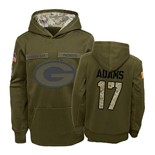 Nike Packers 17 Davante Adams 2019 Salute To Service Stitched Hooded Sweatshirt