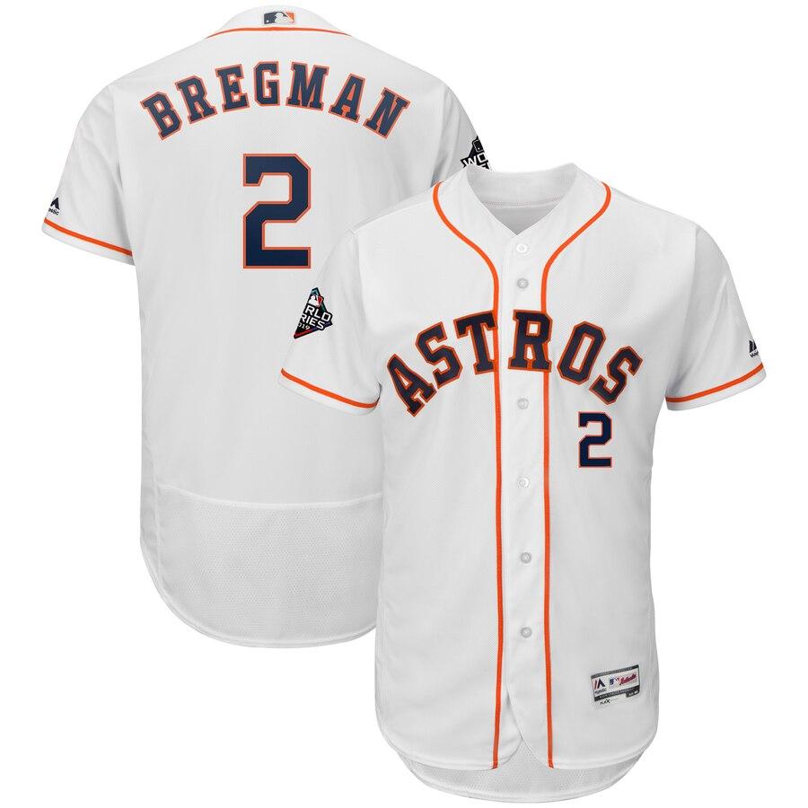 Astros 2 Alex Bregman White 2019 World Series Bound FlexBase Jersey