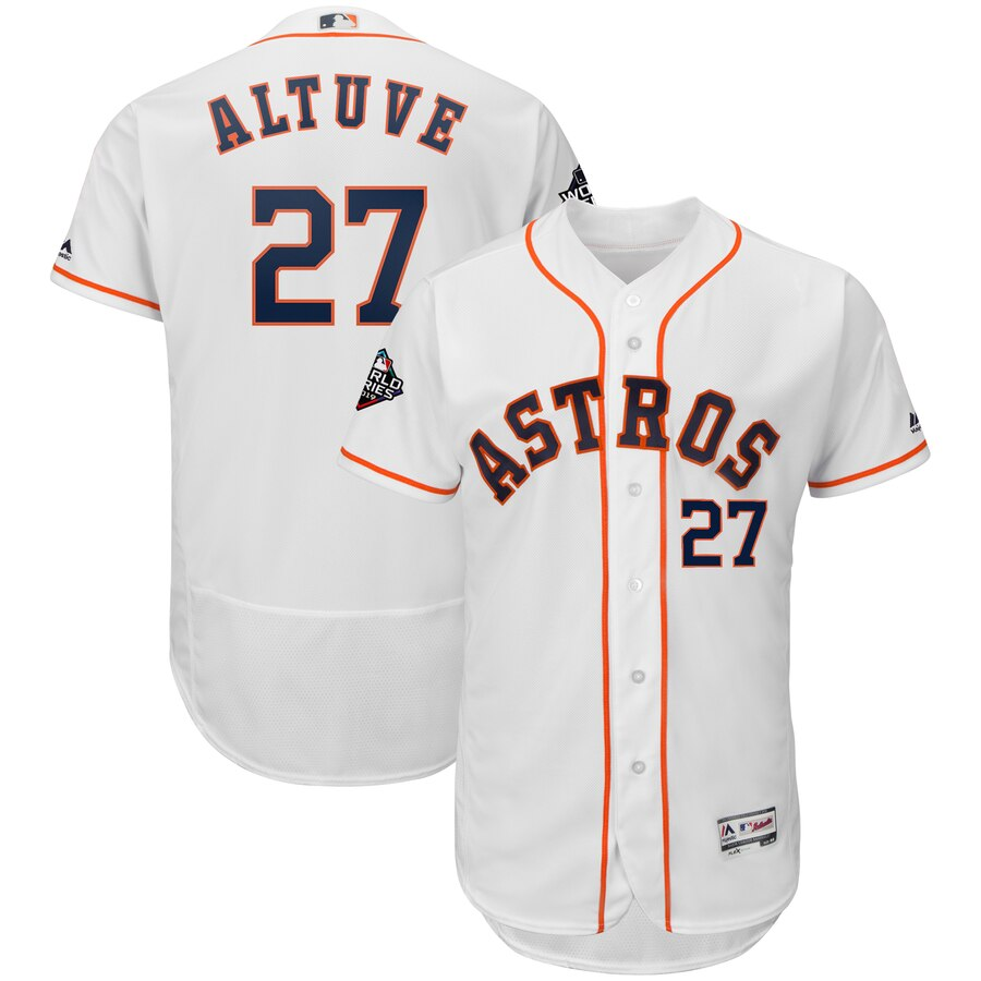 Astros 27 Jose Altuve White 2019 World Series Bound Flexbase Jersey