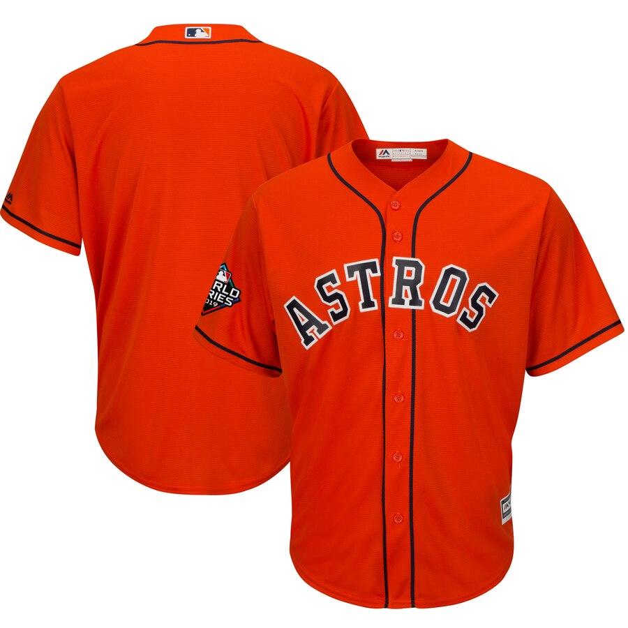 Astros Blank Orange 2019 World Series Bound Cool Base Jersey