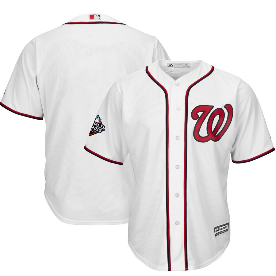 Nationals Blank White 2019 World Series Bound Cool Base Jersey