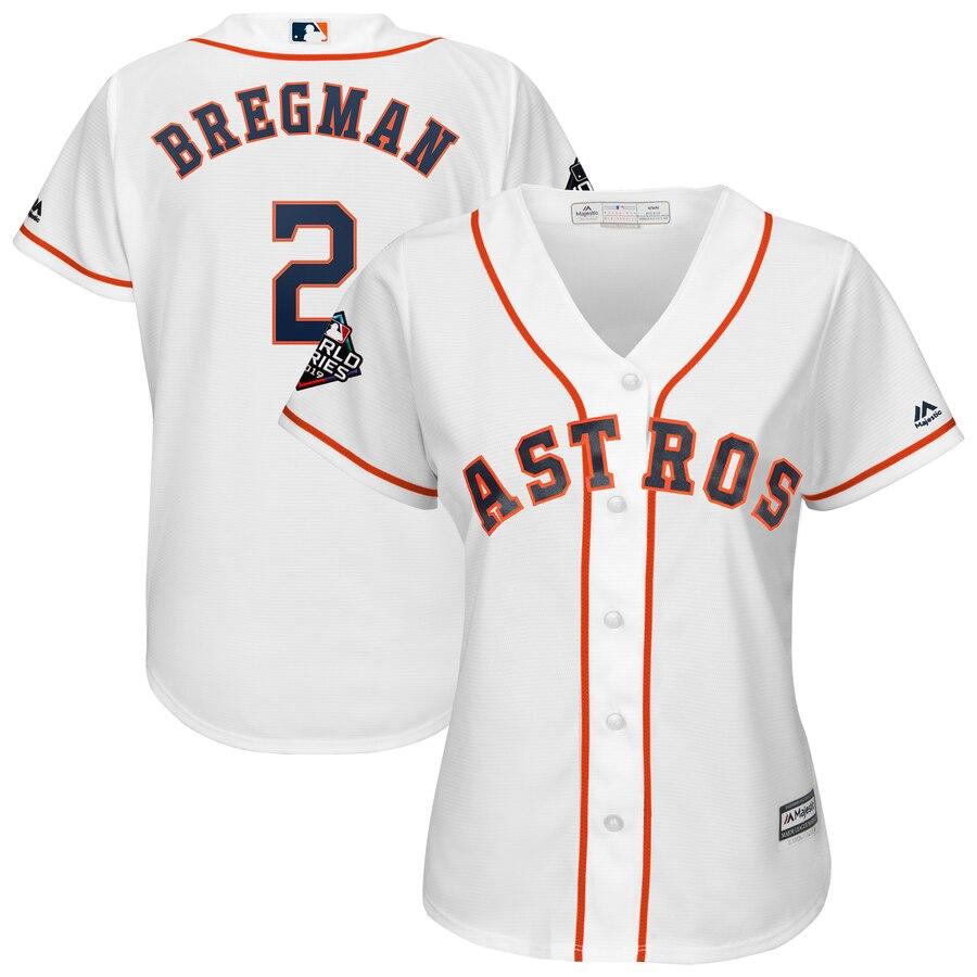 Astros 2 Alex Bregman White Women 2019 World Series Bound Cool Base Jersey