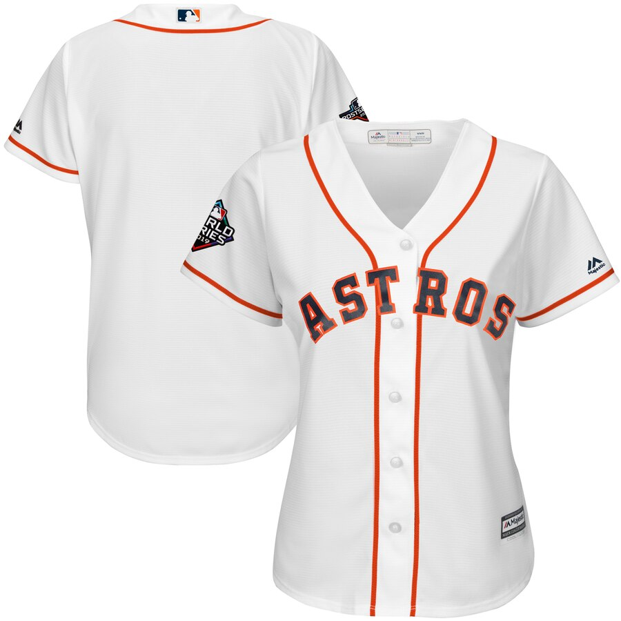 Astros Blank White Women 2019 World Series Bound Cool Base Jersey