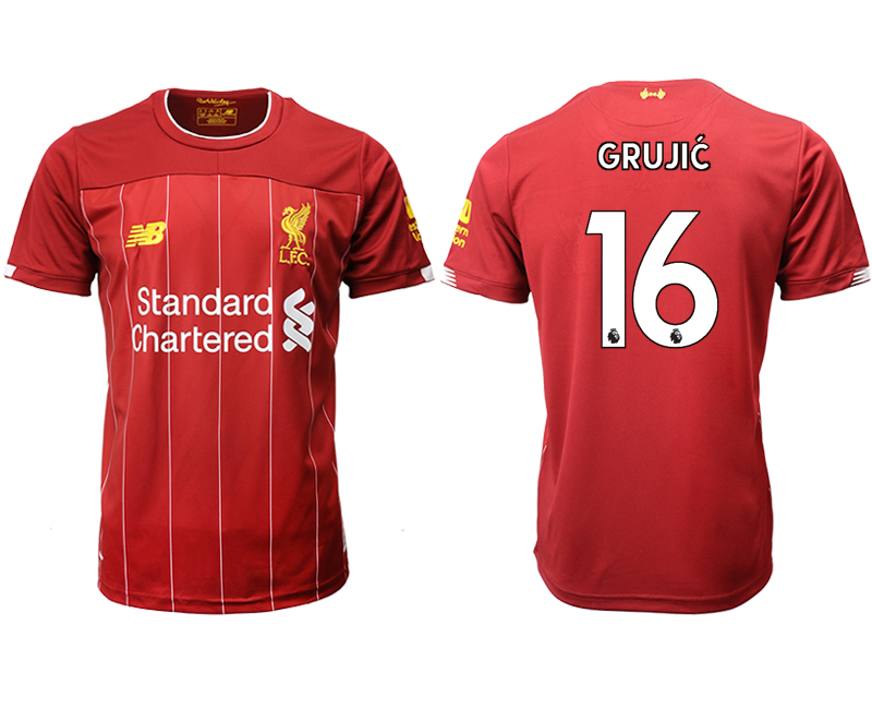 2019-20 Liverpool 16 GRUJIC Home Thailand Soccer Jersey