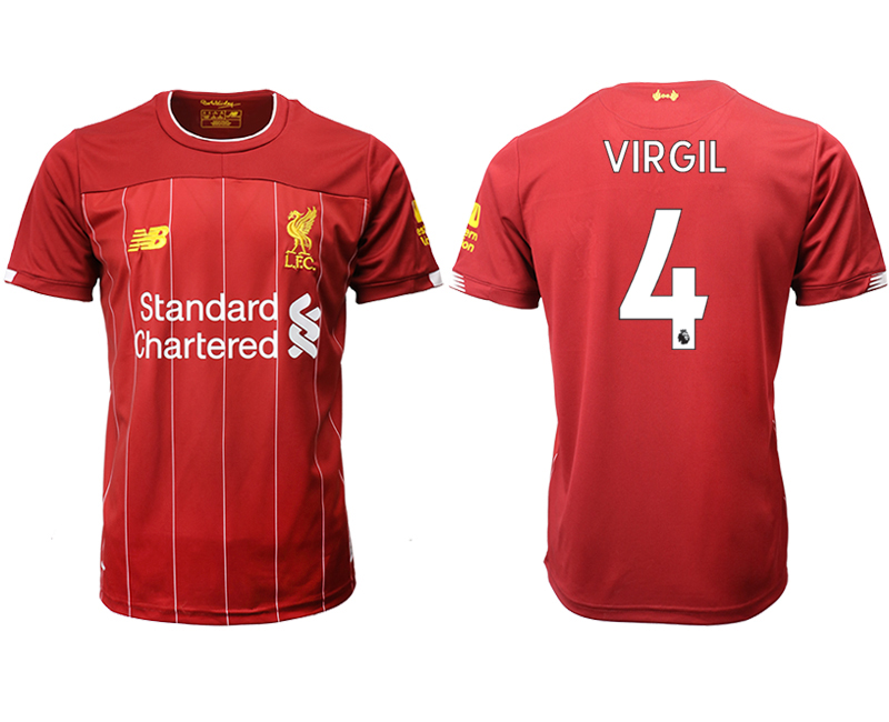 2019-20 Liverpool 4 VIRGIL Home Thailand Soccer Jersey