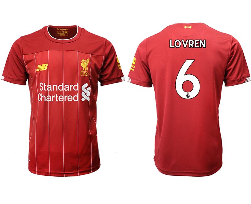 2019-20 Liverpool 6 LOVREN Home Thailand Soccer Jersey