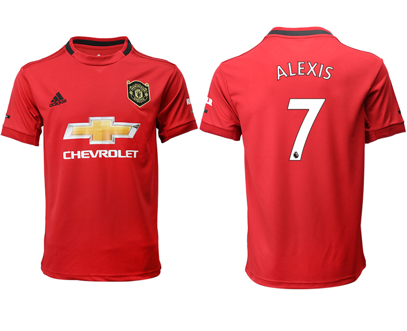 2019-20 Manchester United 7 ALEXIS Home Thailand Soccer Jersey