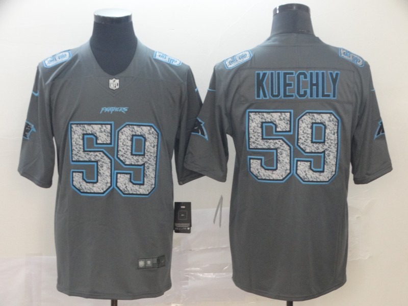 Nike Panthers 59 Luke Kuechly Gray Camo Vapor Untouchable Limited Jersey