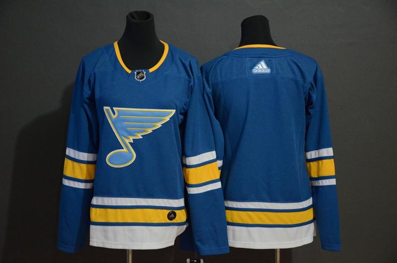 Blues Blank Blue Alternate Adidas Jersey