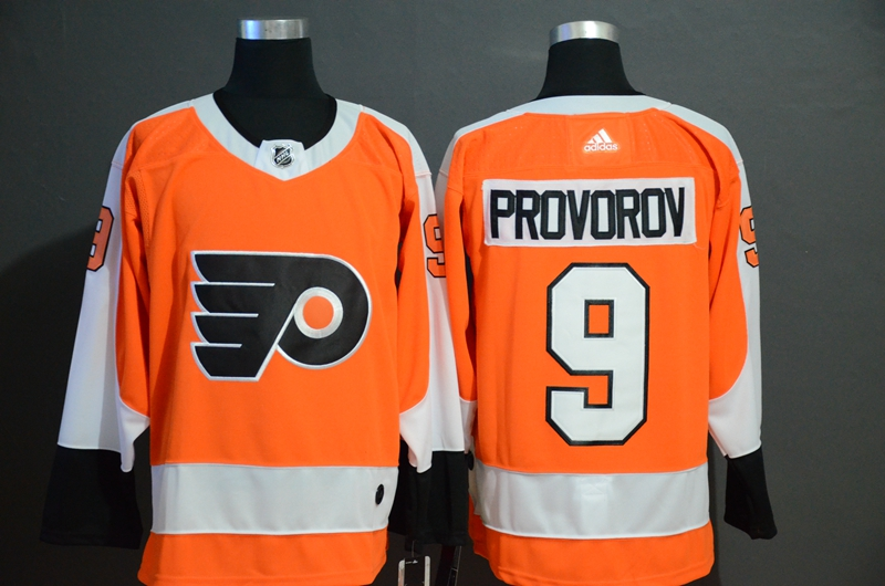 Flyers 9 Ivan Provorov Orange Adidas Jersey