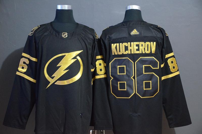 Lightning 86 Nikita Kucherov Black Gold Adidas Jersey
