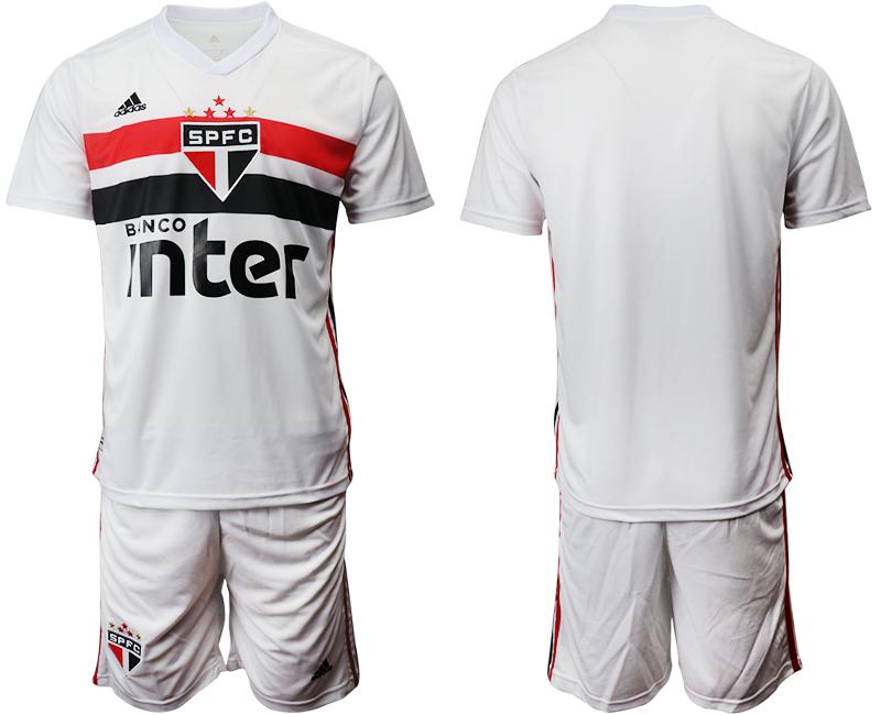 2019-20 Sao Paulo FC Home Soccer Jersey