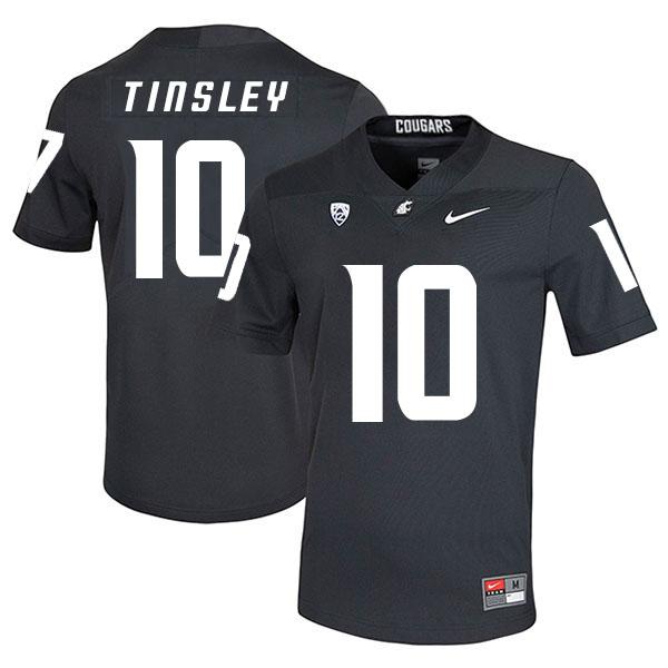 Washington State Cougars 10 Trey Tinsley Black College Football Jersey