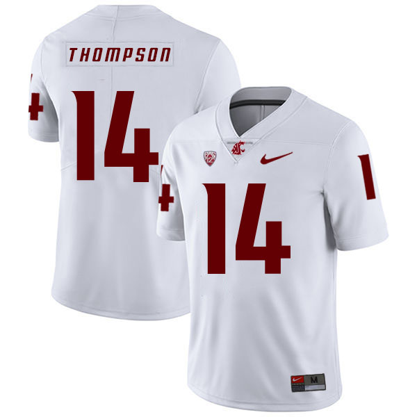 Washington State Cougars 14 Jack Thompson White College Football Jersey