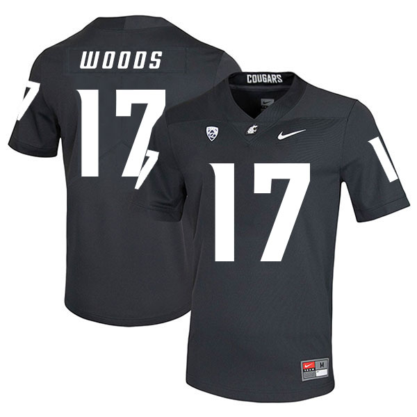 Washington State Cougars 17 Kassidy Woods Black College Football Jersey