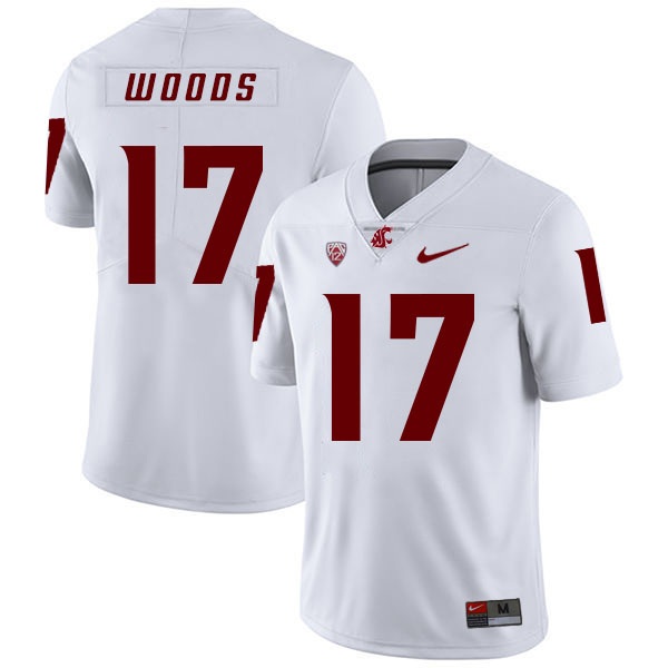 Washington State Cougars 17 Kassidy Woods White College Football Jersey