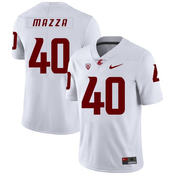 Washington State Cougars 40 Blake Mazza White College Football Jersey