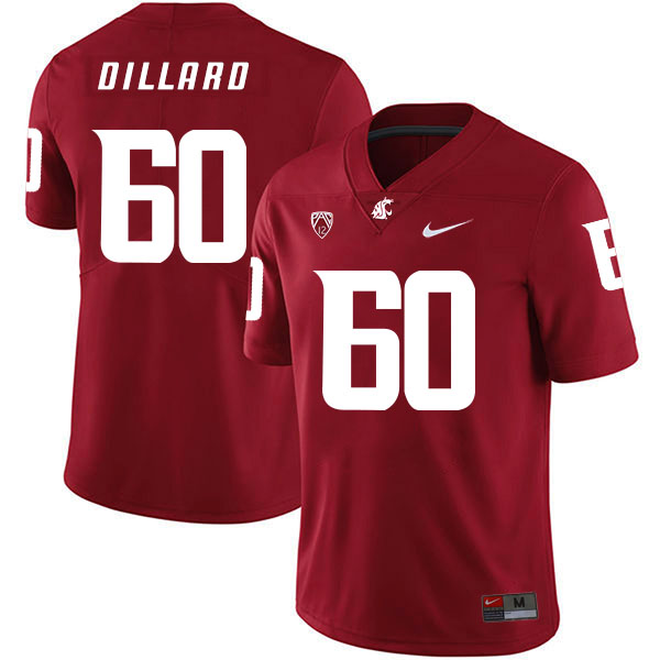 Washington State Cougars 60 Andre Dillard Red College Football Jersey