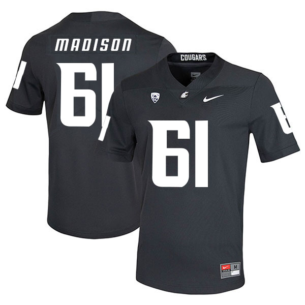 Washington State Cougars 61 Cole Madison Black College Football Jersey