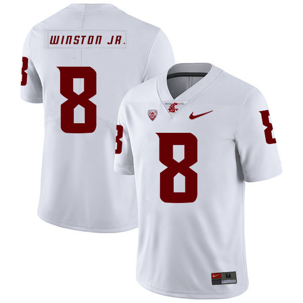 Washington State Cougars 8 Easop Winston Jr. White College Football Jersey.jpeg