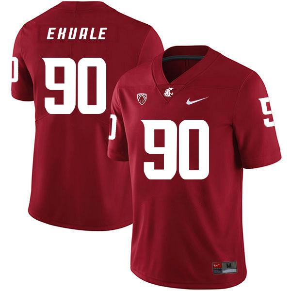 Washington State Cougars 90 Daniel Ekuale Red College Football Jersey