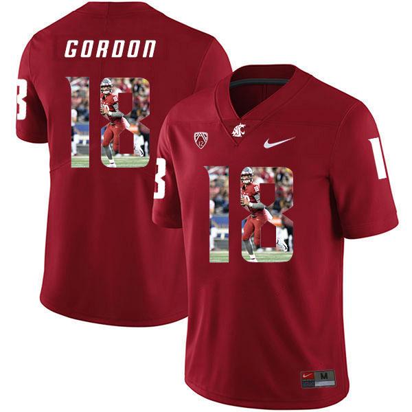 Washington State Cougars 18 Anthony Gordon Red Fashion College Football Jersey