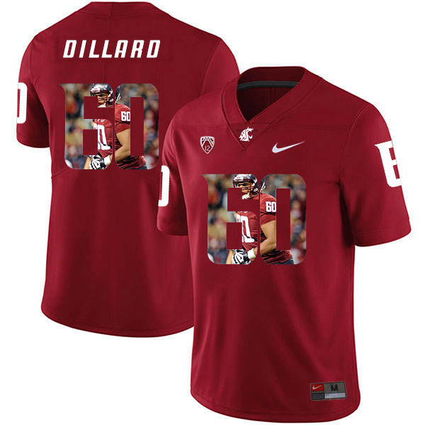Washington State Cougars 60 Andre Dillard Red Fashion College Football Jersey