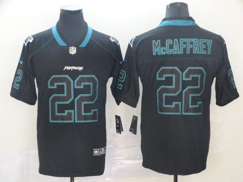 Nike Panthers 22 Christian McCaffrey Black Shadow Legend Limited Jersey