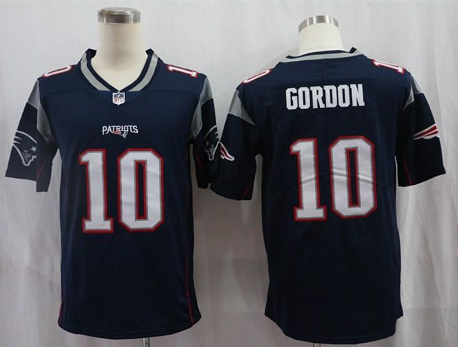 Nike Patriots 10 Josh Gordon Navy Vapor Untouchable Limited Jersey