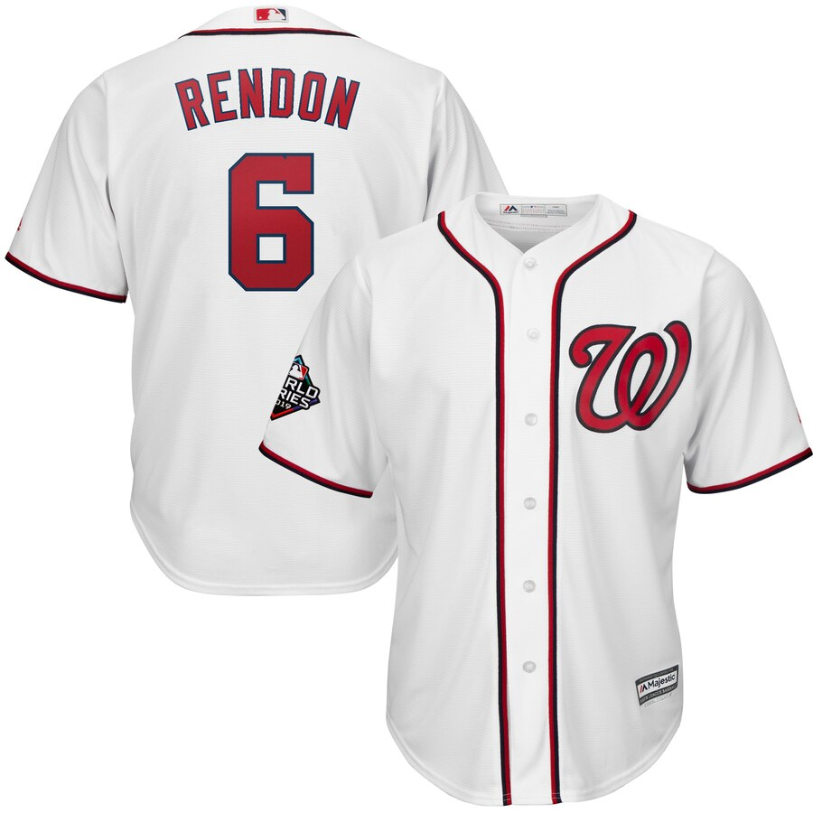 Nationals 6 Anthony Rendon White 2019 World Series Bound Cool Base Jersey