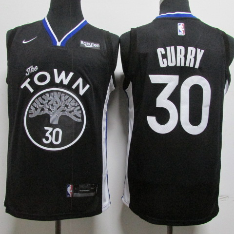 Warriors 30 Stephen Curry Black Nike Swingman Jersey