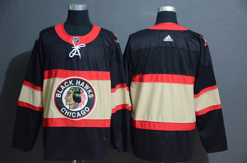 Blackhawks Blank Premier Black New Third Adidas Jersey