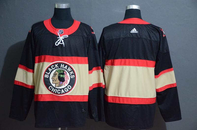 Blackhawks Blank Premier Black New Third Adidas Jersey
