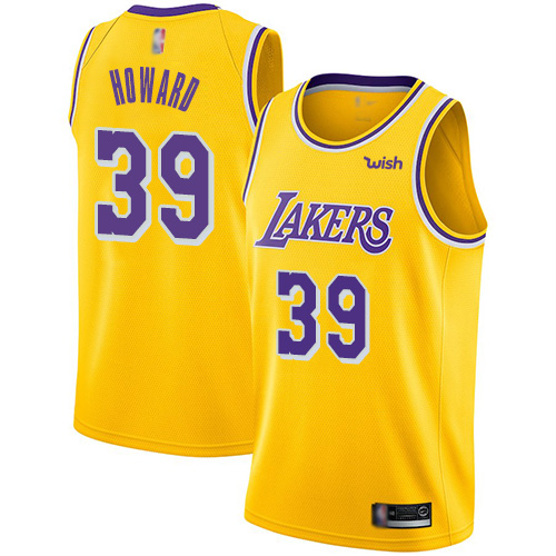 Lakers 39 Dwight Howard Yellow Nike Swingman Jersey