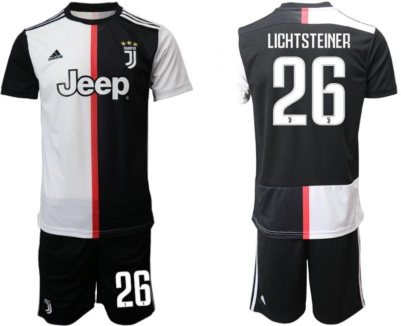2019-20 Juventus FC 26 LICHTSTEINER Home Soccer Jersey