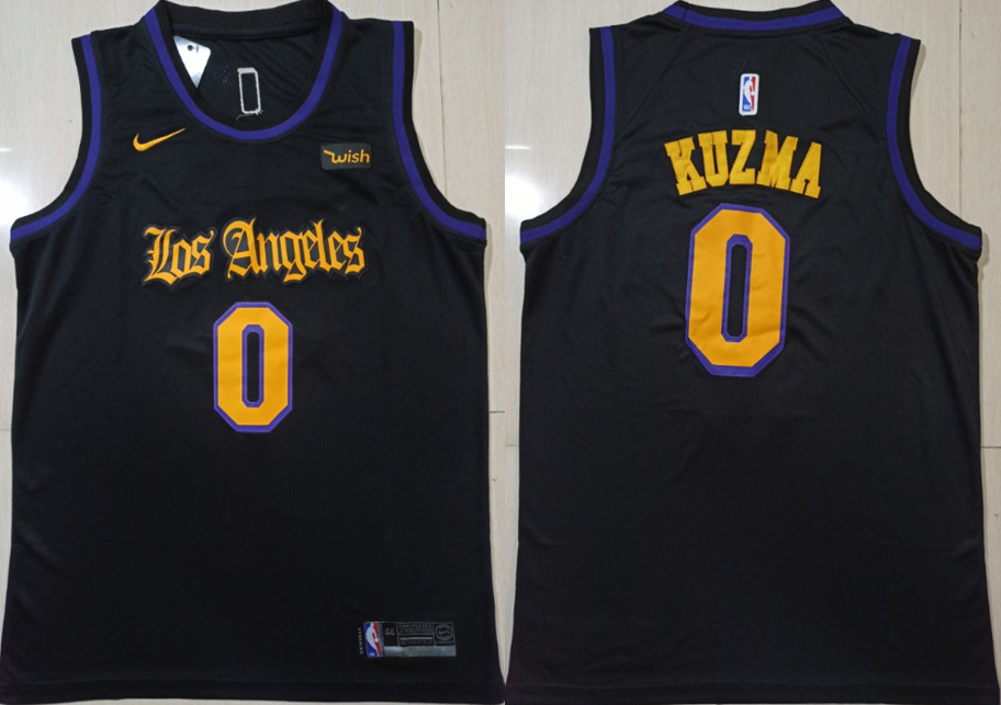 Lakers 0 Kyle Kuzma Black Nike Swingman Jersey