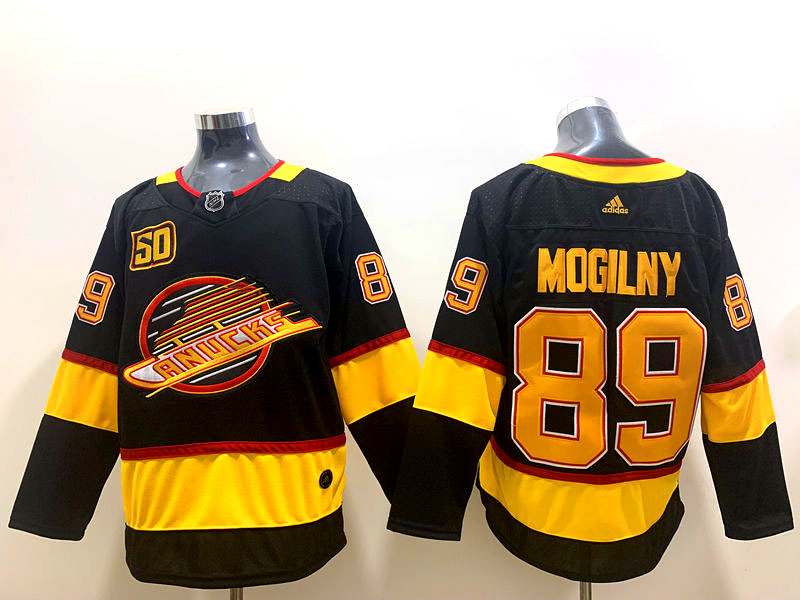Canucks 89 Alexander Mogilny Black 50th Anniversary Adidas Jerseys