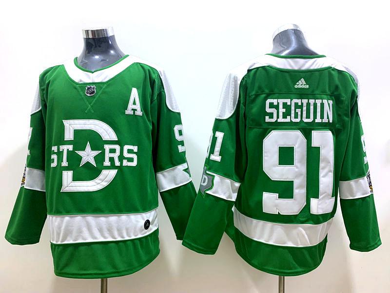 Stars 91 Tyler Seguin Green 2020 Winter Classic Adidas Jersey