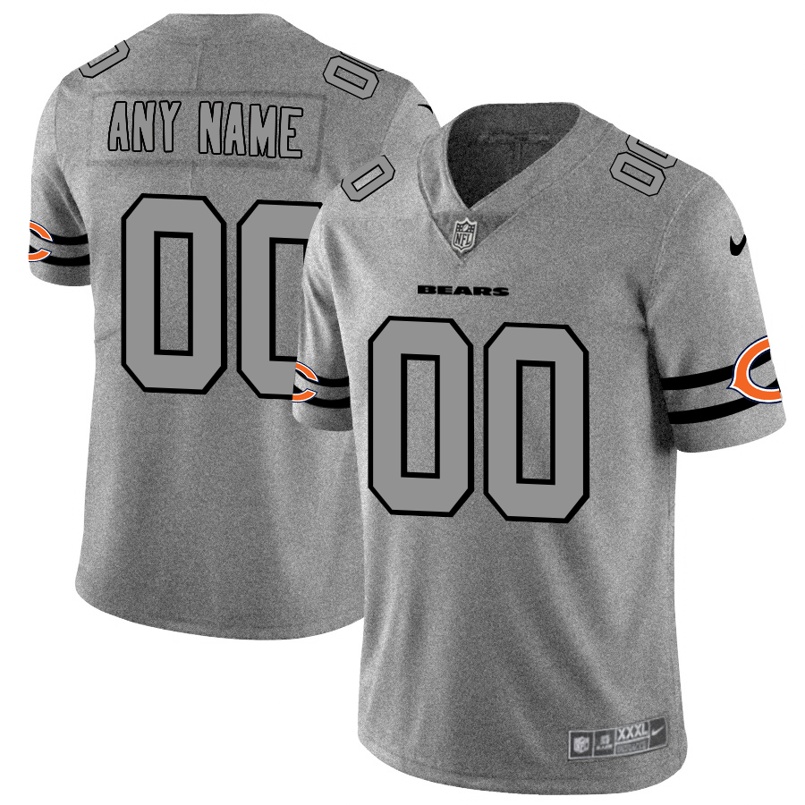 Nike Bears Customized 2019 Gray Gridiron Gray Vapor Untouchable Limited Jersey